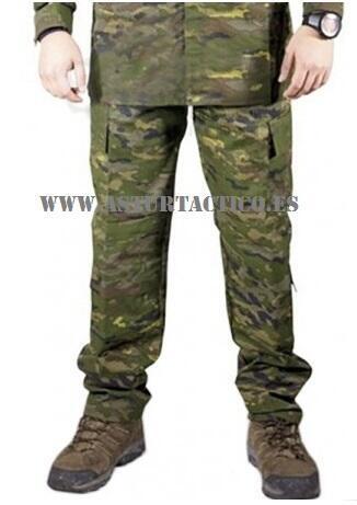 Pantalon camuflaje boscoso español
