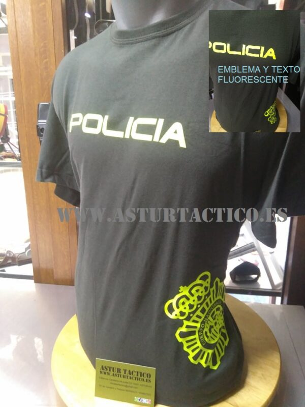CAMISETA POLICIA FLUOR