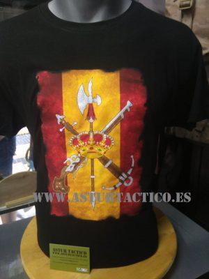 Camiseta Leguion Española con Bandera de España