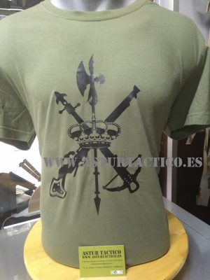 Camiseta verde militar de la Legion Española