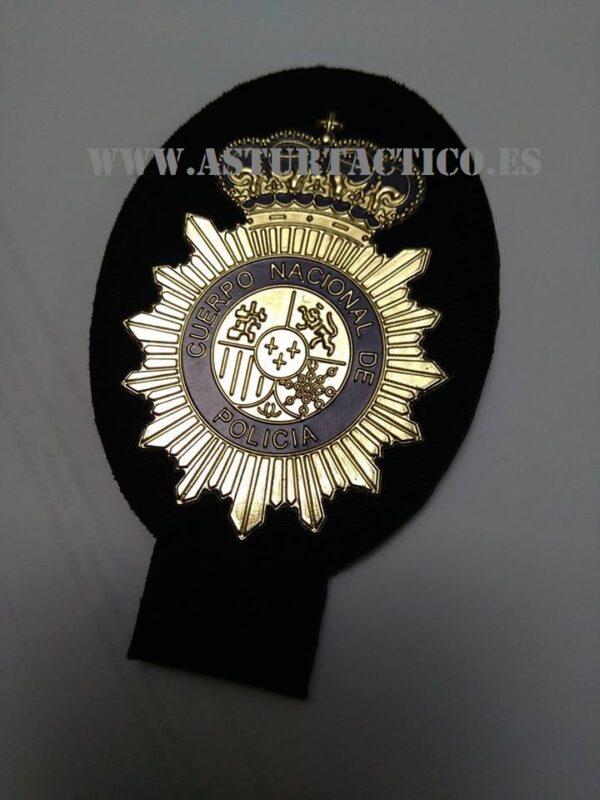 Parche emblema Policia Nacional / CNP dorado