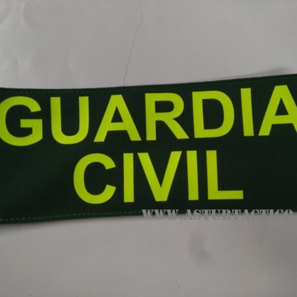 Parche o galleta para pecho de Guardia Civil con velcro