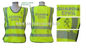 Chaleco Guardia Civil fluorescente y reflectante