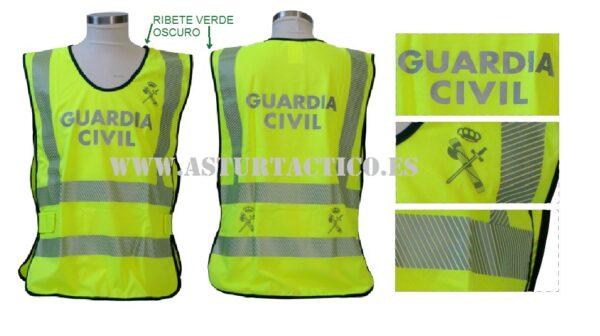 Chaleco Guardia Civil fluorescente y reflectante