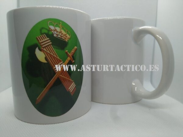 TAZA GUARDIA CIVIL FONDO VERDE