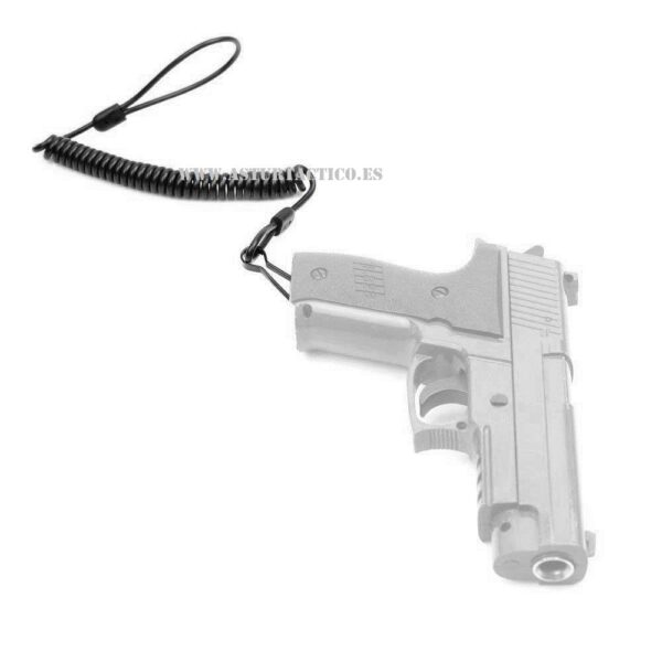 Cable anti hurto para arma corta