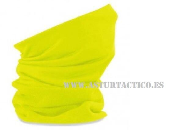 Braga cuello buf amarilla fluorescente
