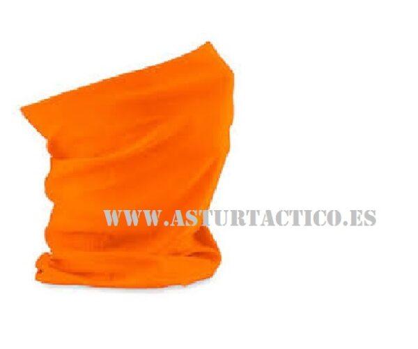 Braga de cuello Buf naranja fluorescente