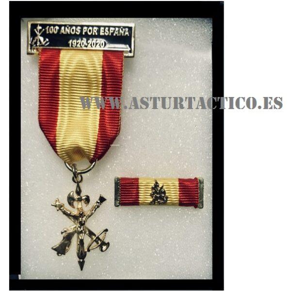 MEDALLA + PASADOR (automontaje) DEL CENTENARIO DE LA LEGION 1920-2020