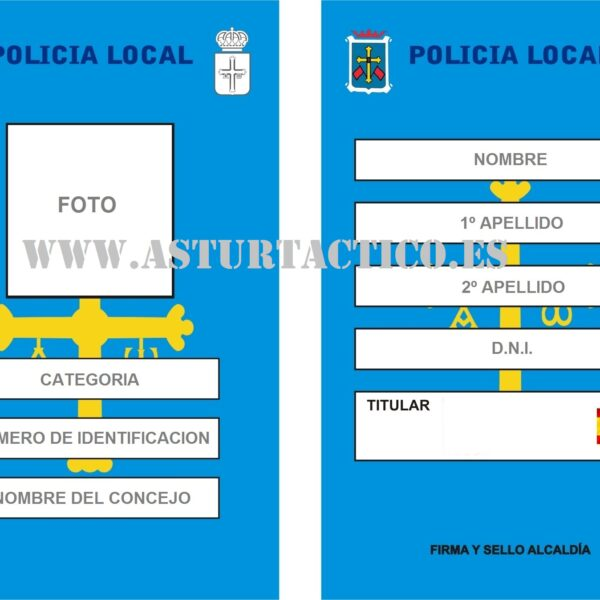 NUEVO CARNET POLICIA LOCAL ASTURIAS